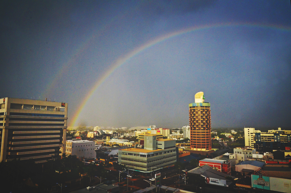Double rainbow in Townsville.JPG