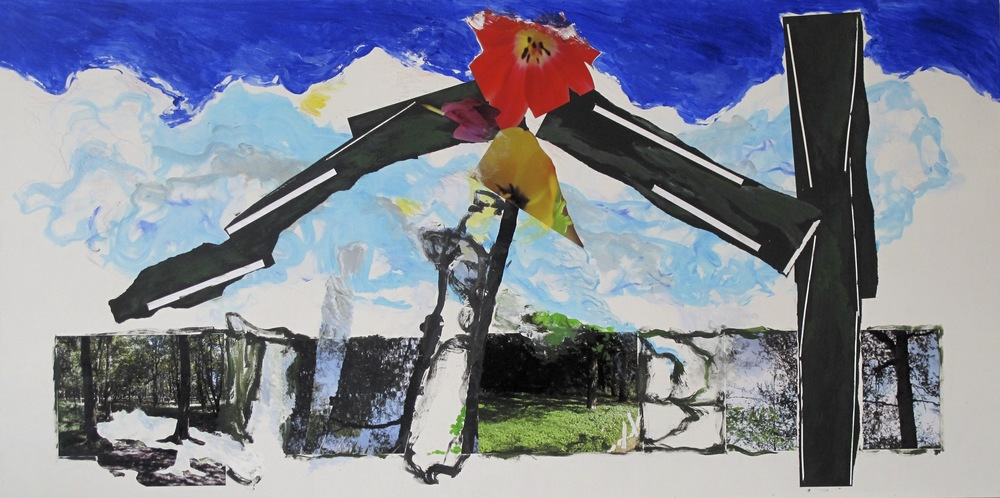 Berlin Landscape 2011-2012, Collage on Wood,  122 * 244 cm