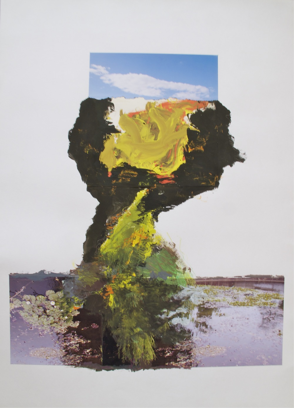 Westerpark 2011, Collage on Paper, 100 * 70 cm