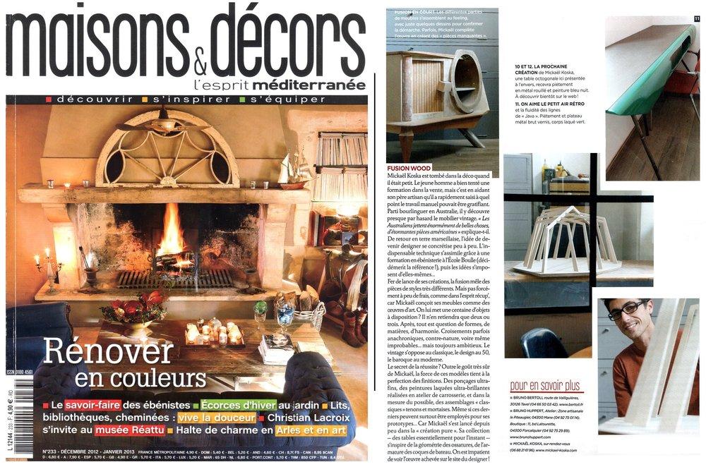 MAISON & DECORS - Décembre 2012
