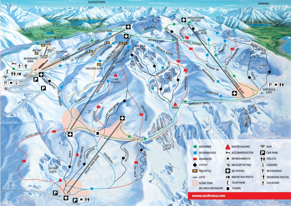 Cardrona trail map Wanaka