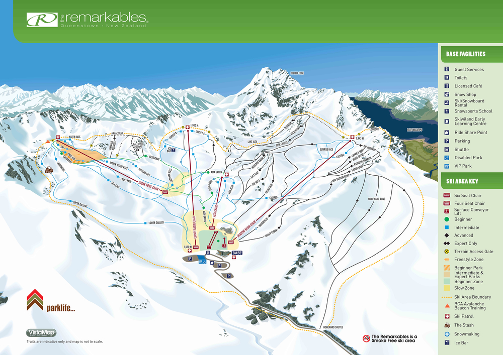 The Remarkables trail map queenstown