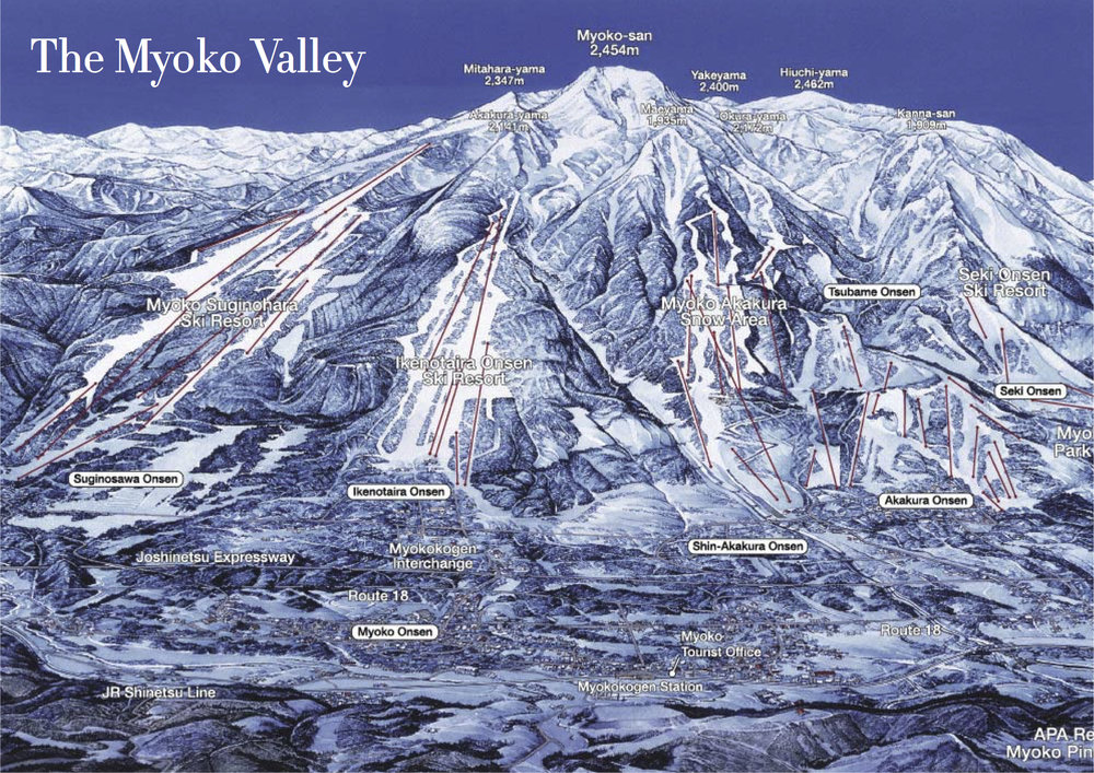 Myoko trail map