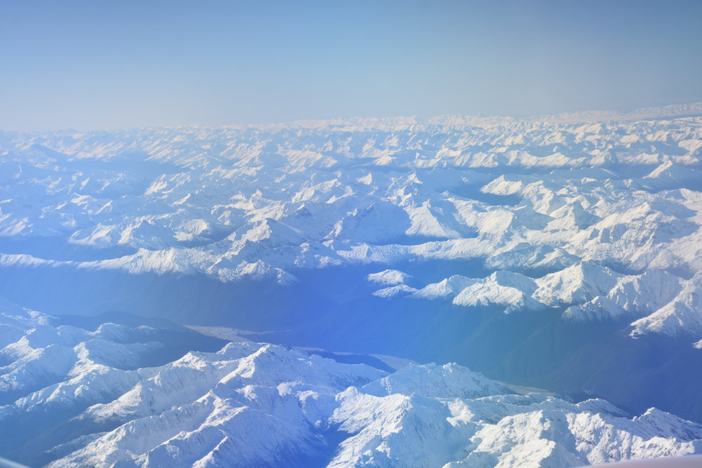 Southern alps from 30000 feet