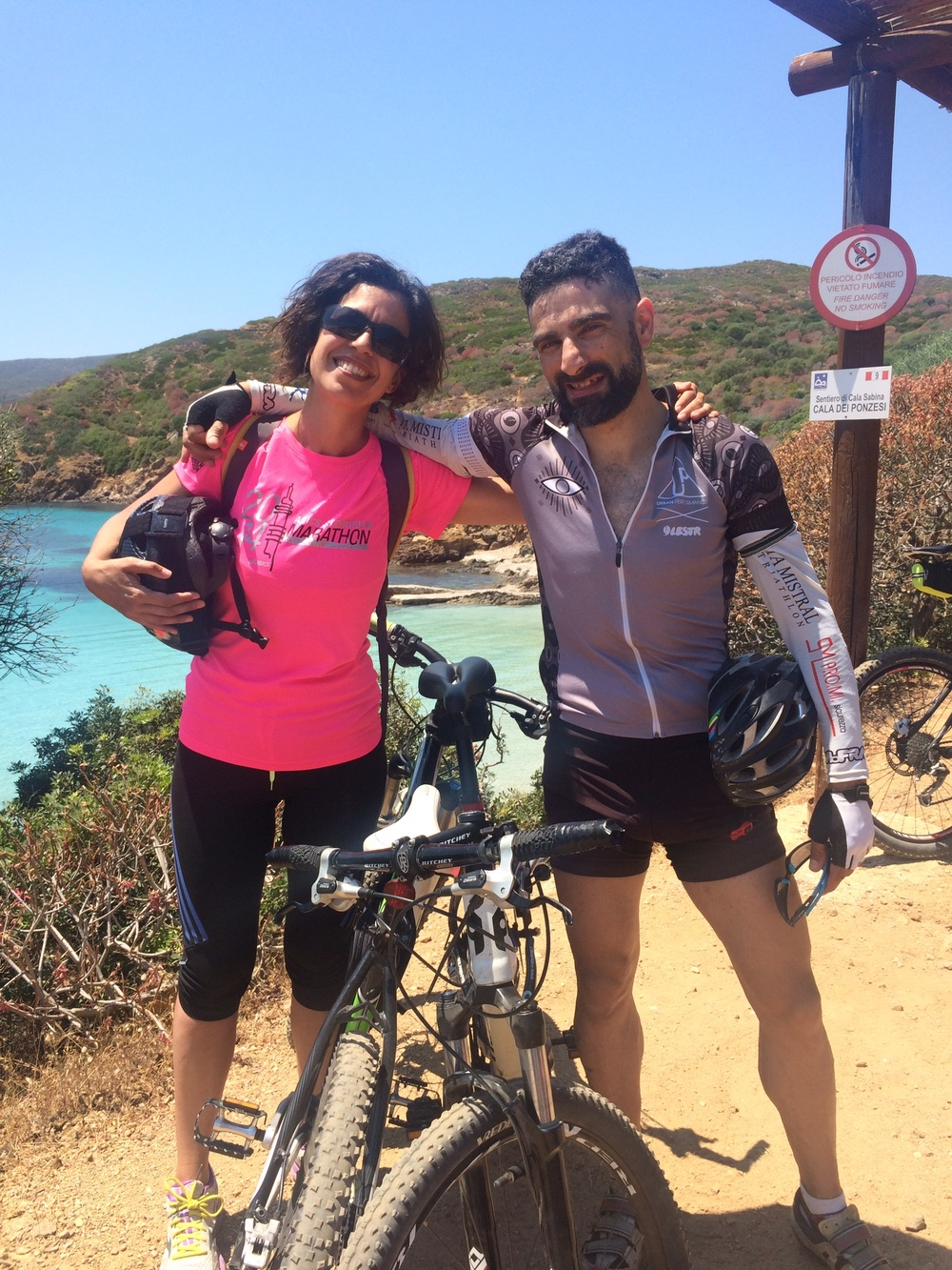 Sardinia, Biking at Asinara,
