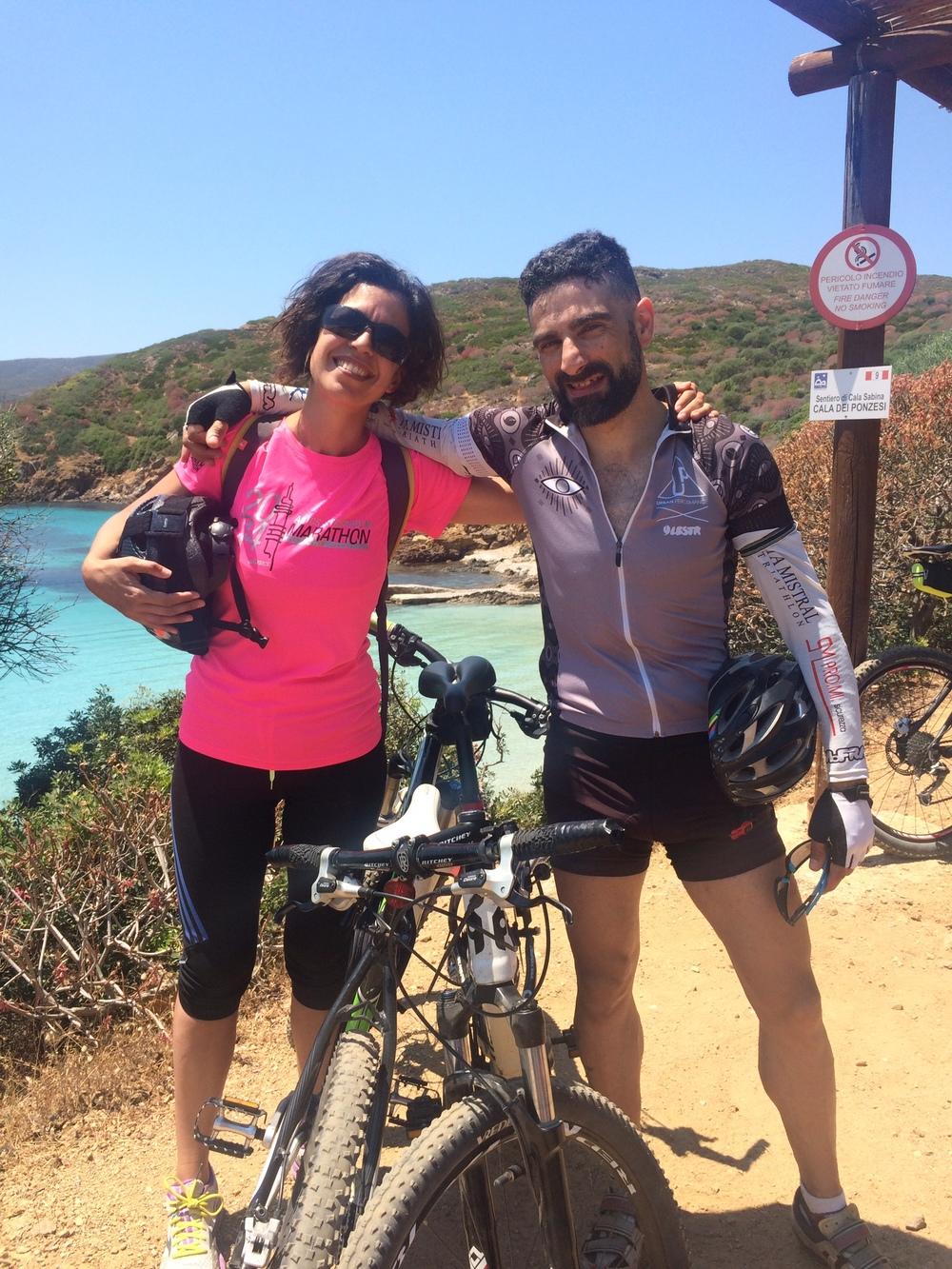 Sardinia, Biking at Asinara,