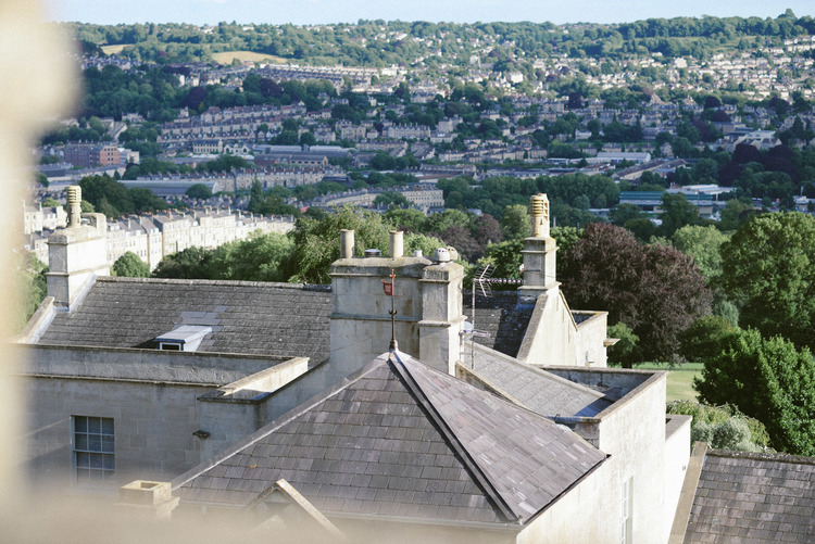 View from our bedroom, Sion Hill, Bath.