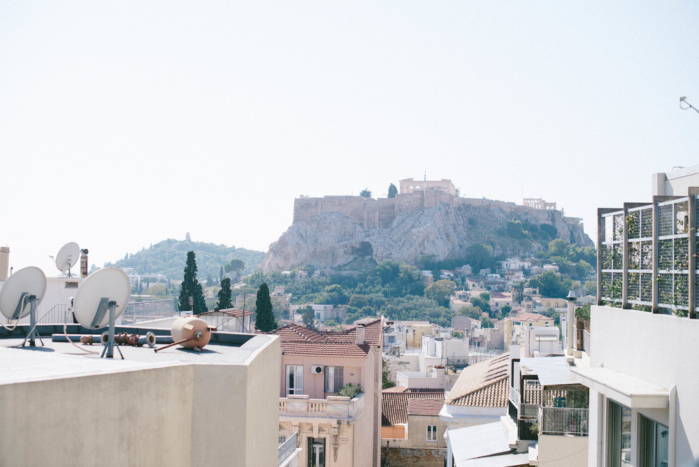 View of the Acropolis from Art Lounge