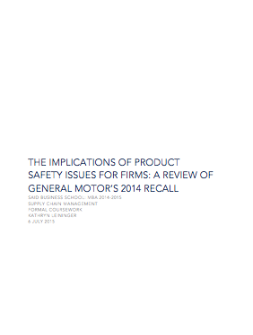 GM Supply Chain Management Report