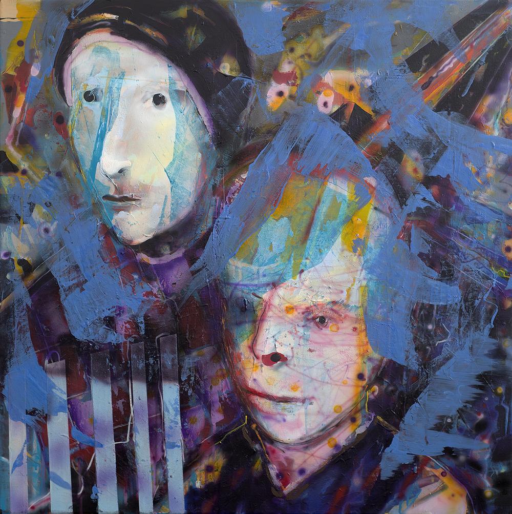 Witnesses - Acrylic/Airbrush on canvas 2016 - 80x80cm