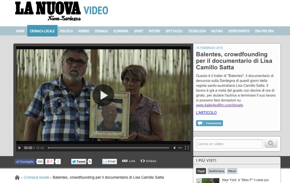 La Nuova Sardegna Video