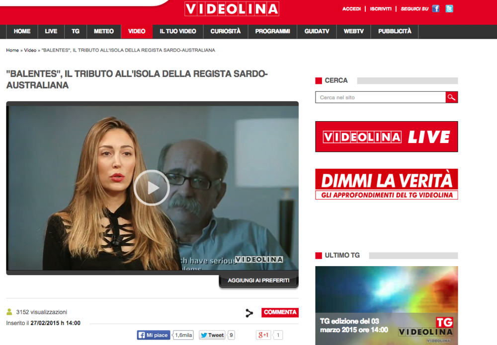 News Report on the Sardinian News Channel