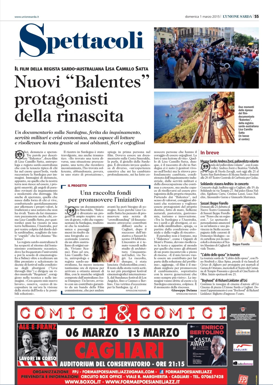 L'Unione Sarda 1/03/2014