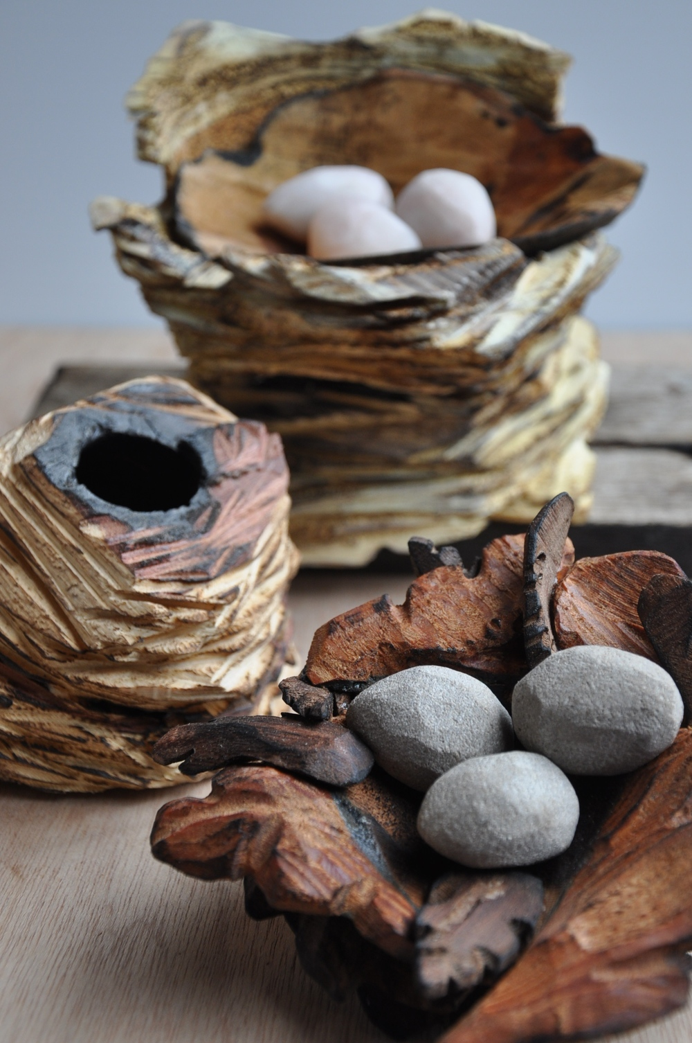 """Nests"" sizes vary wood, stone"