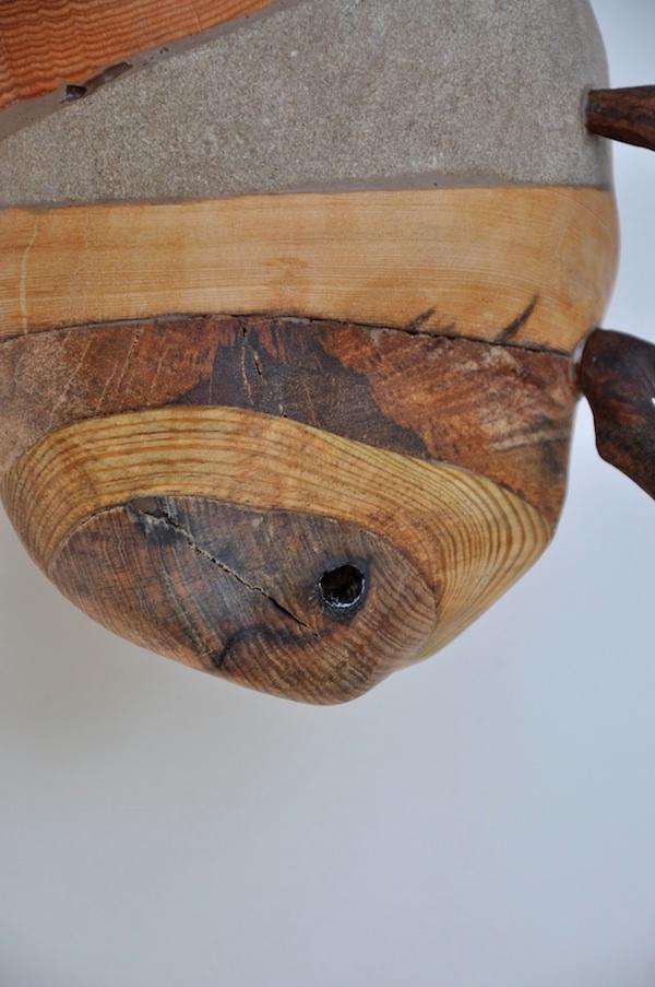 """Hive #17"", 10""x 9"" x 6"", Wood,Limestone"
