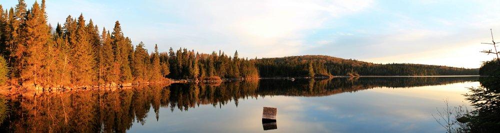 Fin de journée dans le Parc National du Mont Tremblant, Qc