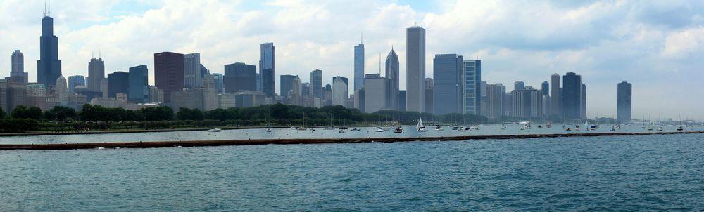 Skyline depuis le planétarium,Chicago, IL, USA