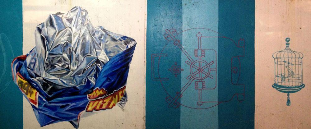 Murals, Gold Coast, Chicago, IL, USA