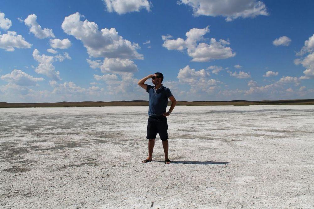 Dry lake onthe road 170, Alberta, Canada