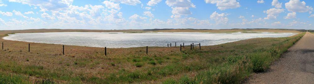 Dry lake on the road 170, Alberta, Canada