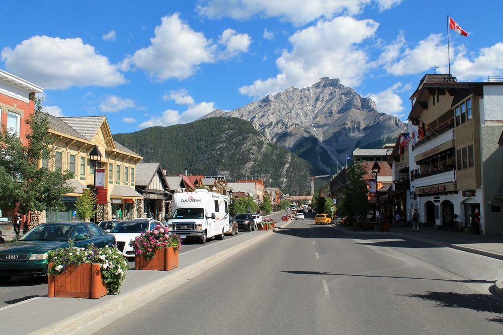 Centre ville de Banff, AB, CA