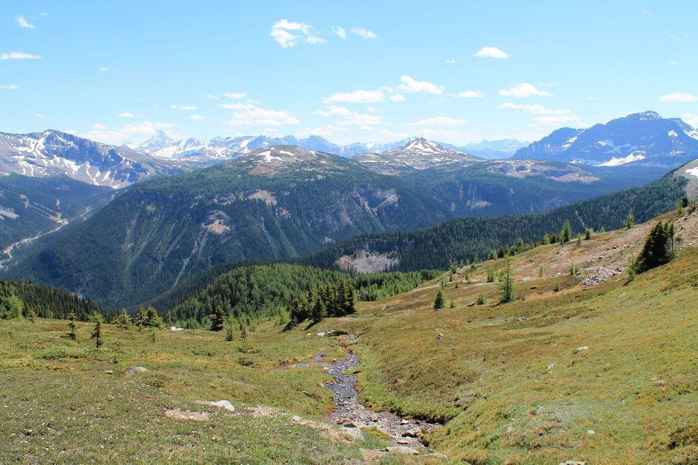 Vue sur la vallée de Bow au Col Haley, Banff National Park, AB, CA
