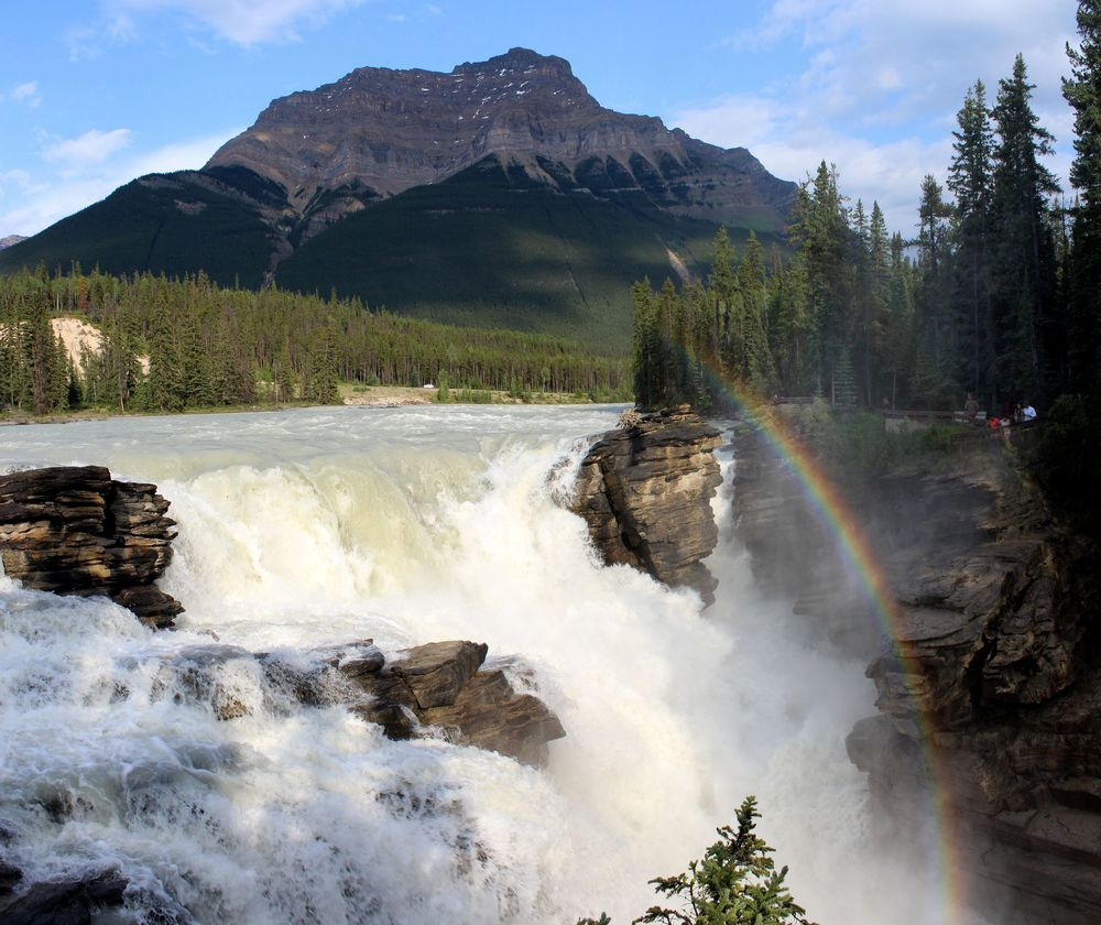 Athabasca Falls, Icefield Parkway, Jasper National Park, AB, CA