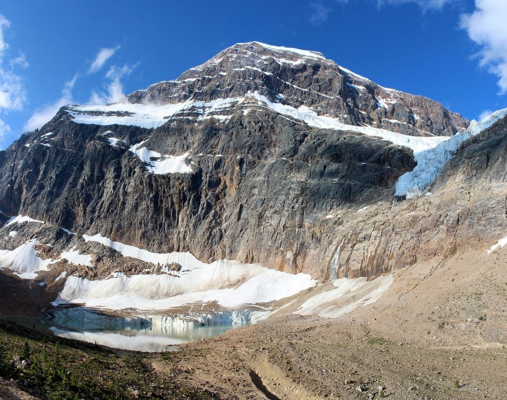 Glacier Angel, Mount Edith Cavell, Jasper National Park, AB, CA