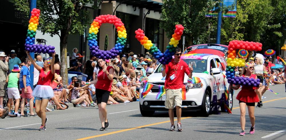 Parade de la gay pride,Vancouver, BC, CA