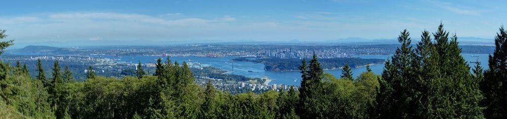 Vue de Vancouver sur les hauteurs du Eagle Bluff au Sommet de Black Mountain, Cypress Mountain, BC, CA