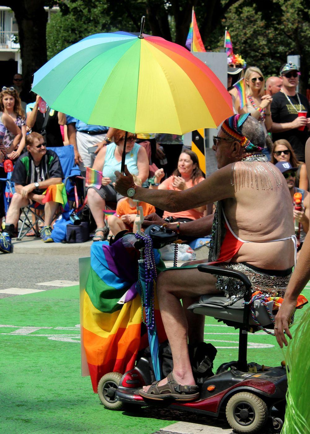 Parade de la gay pride, Vancouver, BC, CA