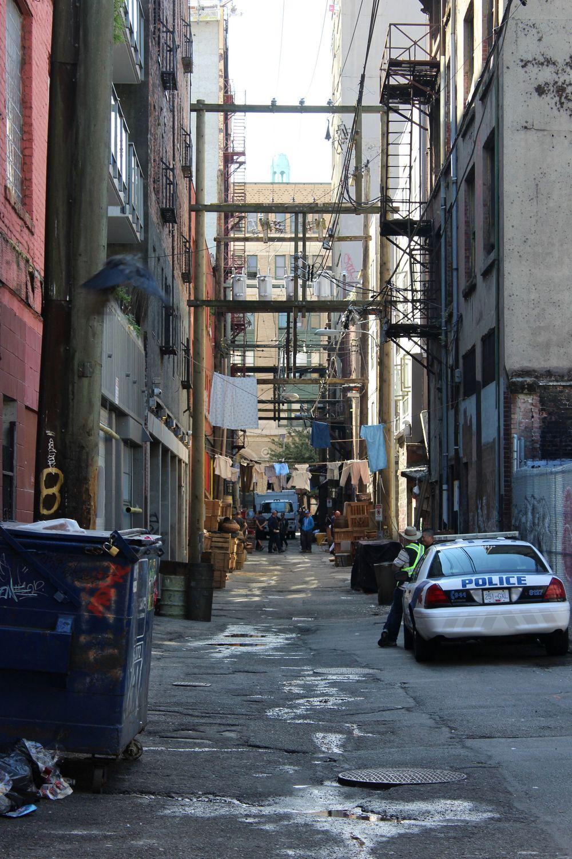 Une ruelle dans le quartier de Gastown, Vancouver, BC, CA