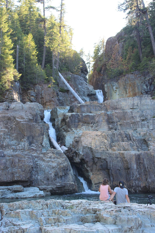 Mélanie et Yohann, Myra Falls, Strathcona Provincial Park, BC, CA