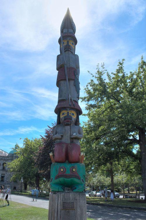 Totem Pole, Legislative Building, Victoria, BC, CA