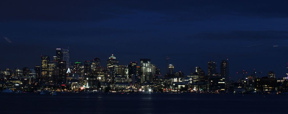 Seattle by-night vue du Gas Works Park, Seattle, WA, USA