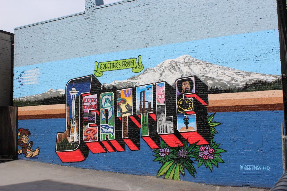Art de rue à Belltown, Seattle, WA, USA
