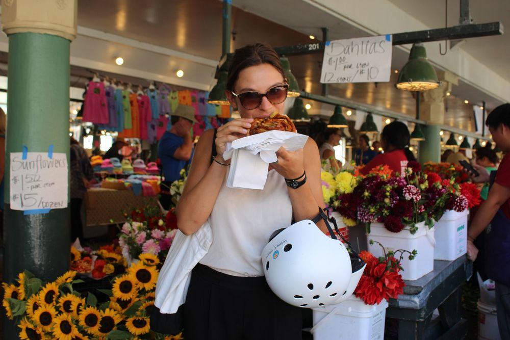 Délectation au Pike Place Market, Seattle, WA, USA