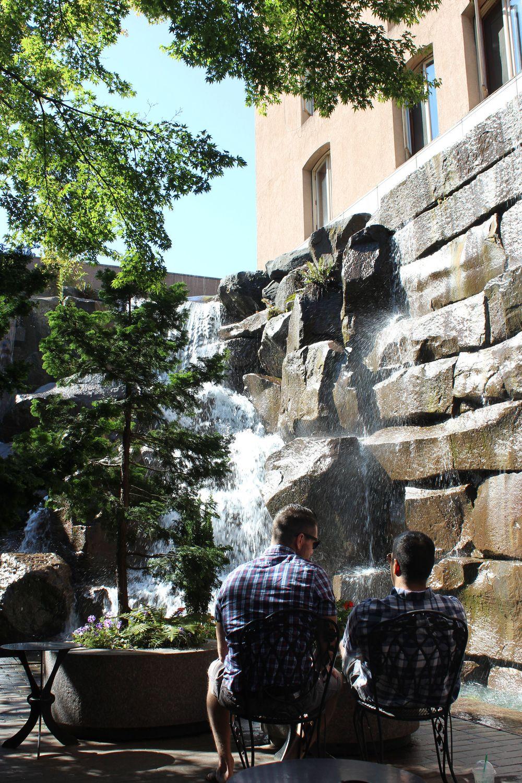 Waterfall Garden, Pioneer Square, Seattle, WA, USA