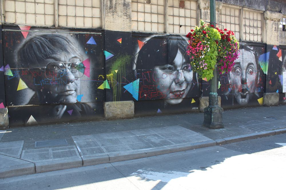Art de rue dans Pioneer Square, Seattle, WA, USA
