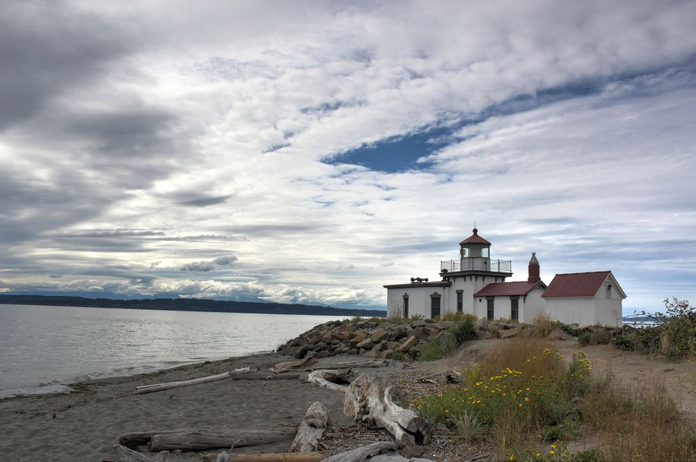 Le phare de Discovery Park, Seattle, WA, USA