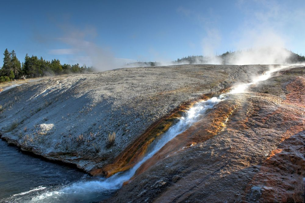 Midway Geyser Basin, Yellowstone National Park, WY, USA