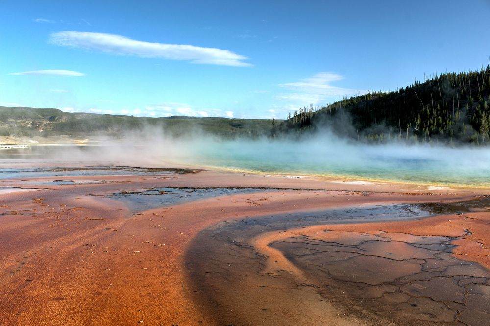 Grand Prismatic Spring, Midway Geyser Basin, Yellowstone National Park, WY, USA