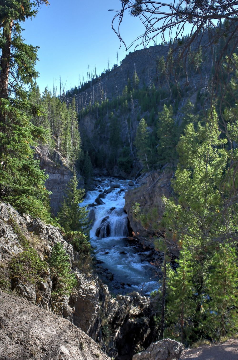 Firehole Canyon Drive, Yellowstone National Park, WY, USA