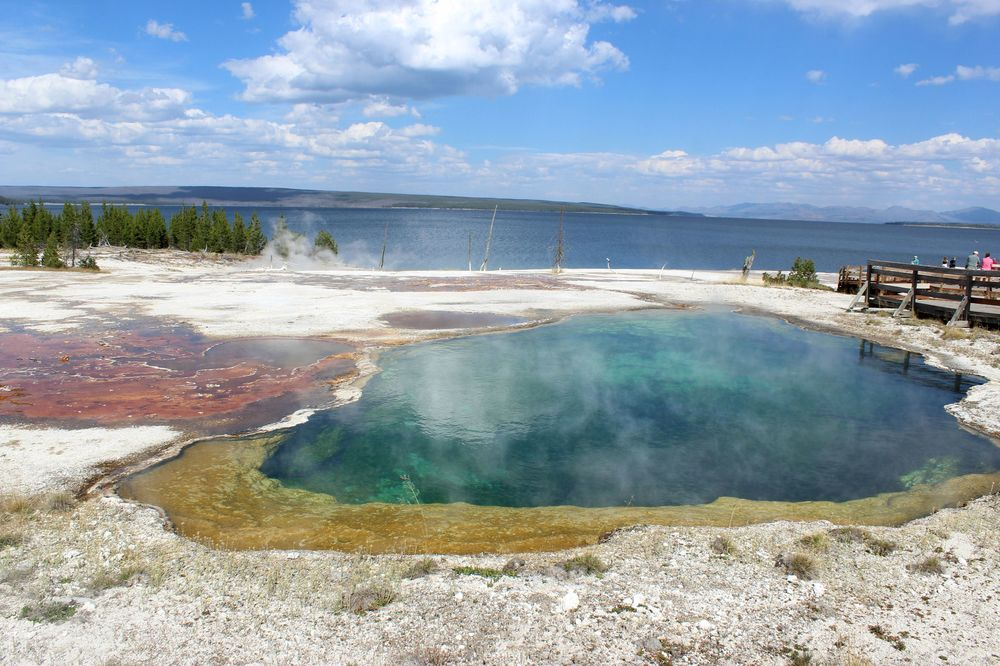 Abyss Pool, West Thumb Geyser Basin, Yellowstone National Park, WY, USA
