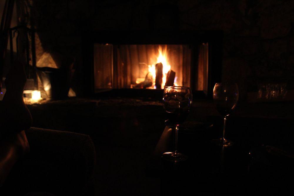 Paisible soirée au coin du feu chez Léo, Bend, OR, USA