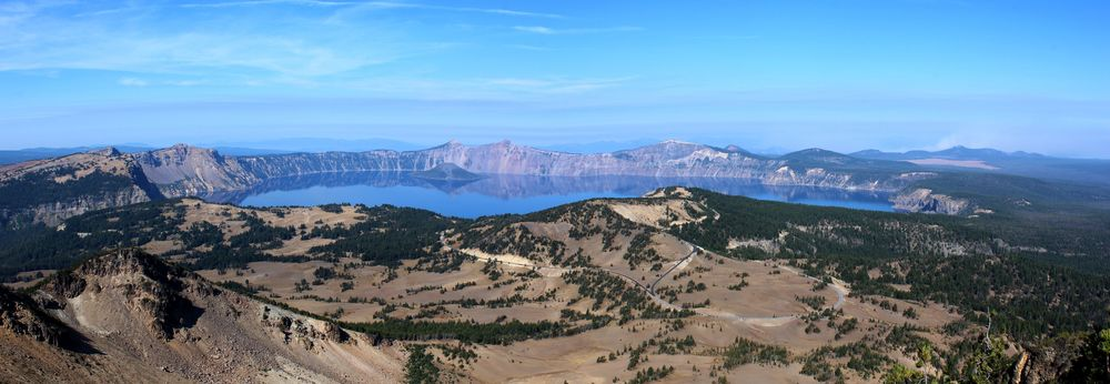 Vue du Mount Scott, Crater Lake National Park, OR, USA