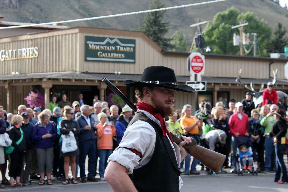 Show de cowboy à Jackson, WY, USA
