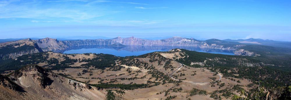 Vue du Mount Scott, Crater Lake National Park, OR, USA
