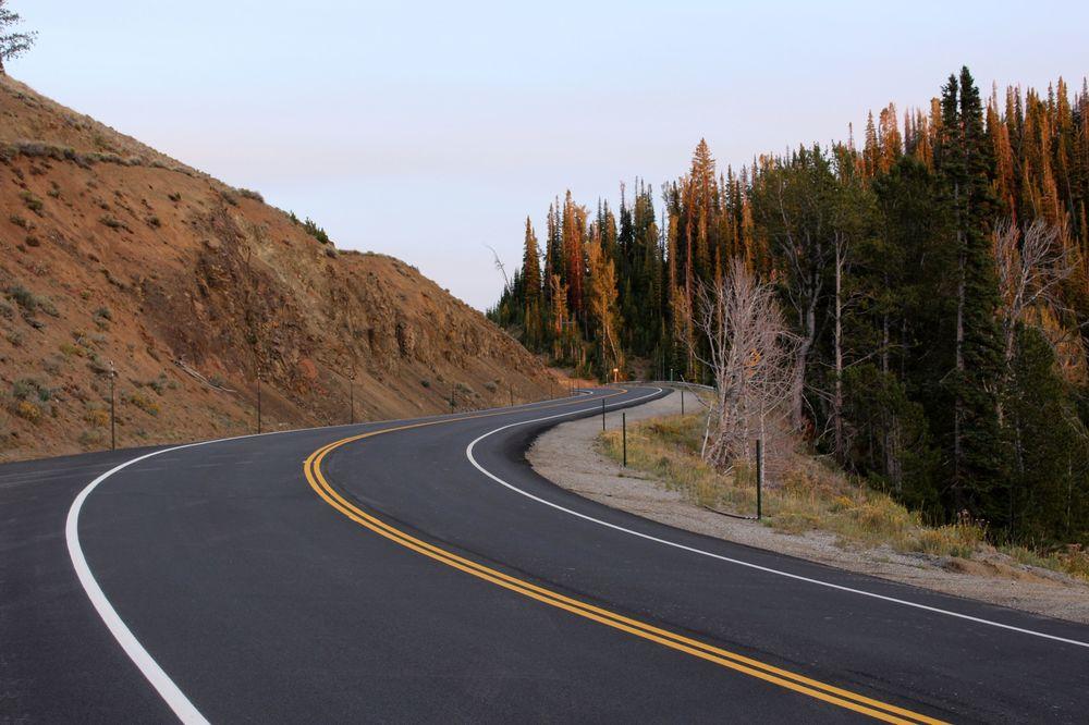 Route scénique 75 entre Ketchum et Stanley, ID, USA