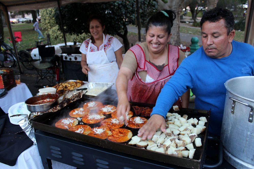 Stand de nourriture méxicaine à Napa, CA, USA